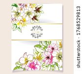 romantic wedding invitation... | Shutterstock .eps vector #1768529813