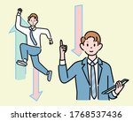 a businessman is holding his... | Shutterstock .eps vector #1768537436