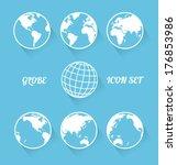 vecrot globe icon set. modern... | Shutterstock .eps vector #176853986