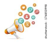 vector flat design concept... | Shutterstock .eps vector #176853998