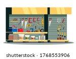 tools shop showcase. assortment ...   Shutterstock .eps vector #1768553906