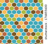 the geometric background made... | Shutterstock .eps vector #176855600
