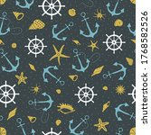 Seamless Pattern On A Black...