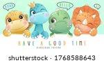 cute little dinosaur with...   Shutterstock .eps vector #1768588643