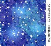 Seamless Pattern Of Starry Sky...