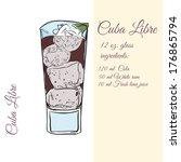 cuba libre. cocktails. vector... | Shutterstock .eps vector #176865794
