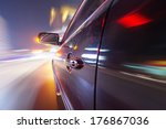 car on the road with motion... | Shutterstock . vector #176867036