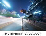 car on the road with motion... | Shutterstock . vector #176867039