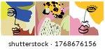 set of creative templates in... | Shutterstock .eps vector #1768676156