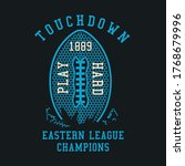 american football typography.... | Shutterstock .eps vector #1768679996