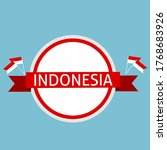 indonesia banner on circle... | Shutterstock .eps vector #1768683926