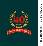 40 years happy annivesary... | Shutterstock .eps vector #1768702076