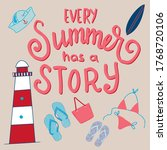 summer time design with text... | Shutterstock .eps vector #1768720106