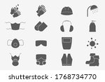 hygiene protection icons set  ... | Shutterstock .eps vector #1768734770