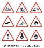 ghs pictogram hazard sign set....   Shutterstock .eps vector #1768735163