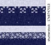 seamless indigo patchwork... | Shutterstock . vector #1768747013