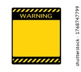 blank warning sign with empty... | Shutterstock .eps vector #1768747799
