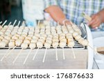 thai style grilled meatball in... | Shutterstock . vector #176876633