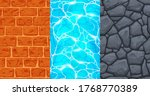 set of seamless textures for... | Shutterstock .eps vector #1768770389