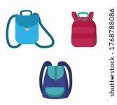 set of backpacks to school....   Shutterstock .eps vector #1768788086