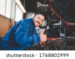 Auto Mechanic Showing Thumbs Up....