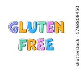 gluten free products print...   Shutterstock .eps vector #1768808450