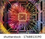 computing machine series. 3d... | Shutterstock . vector #1768813190