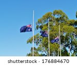 The Australian Flags Half Mast...