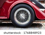 Elegant Vintage Retro Car. Old...