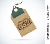 retro styled label of coffee....   Shutterstock .eps vector #176884994