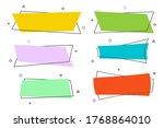 flat empty linear promotion... | Shutterstock .eps vector #1768864010