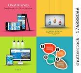 flat design interface template...   Shutterstock . vector #176888066