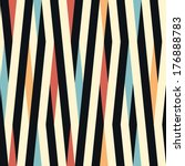 Stock vector seamless striped color background pattern 176888783