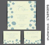 wedding invitation card with... | Shutterstock .eps vector #176890898
