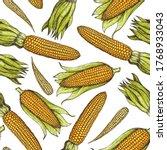 corn  maize seamless pattern.... | Shutterstock .eps vector #1768933043