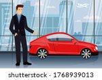 successful businessman chooses... | Shutterstock .eps vector #1768939013