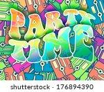 party time retro concept.... | Shutterstock . vector #176894390