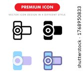 video camera icon pack isolated ...