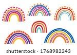 rainbows hand drawn... | Shutterstock .eps vector #1768982243