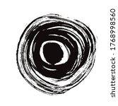 black circles grunge background ... | Shutterstock .eps vector #1768998560