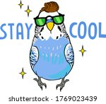 Stay Cool Text. Cartoon...