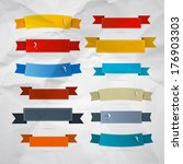 retro ribbons  labels  tags set ... | Shutterstock . vector #176903303