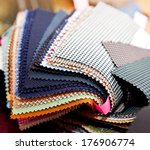 fabric color samples | Shutterstock . vector #176906774