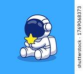 cute astronaut holding star... | Shutterstock .eps vector #1769068373