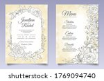 beautiful floral wedding... | Shutterstock .eps vector #1769094740