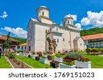 Medieval Mileseva Monastery. 13th century Serbian Orthodox monastery was founded by Serbian King Stefan Vladislav Nemanjic. Located near Prijepolje, Serbia.