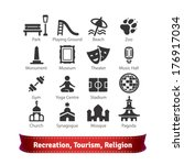 recreation  tourism  sport and... | Shutterstock .eps vector #176917034