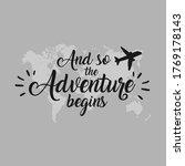 and so adventure begins... | Shutterstock .eps vector #1769178143
