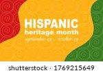 hispanic heritage month...   Shutterstock .eps vector #1769215649