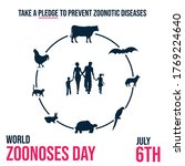 world zoonoses day  take a... | Shutterstock .eps vector #1769224640